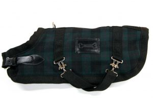 Green-Tartan horse blanket coat