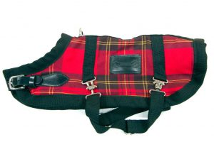 Red-Tartan horse blanket coat