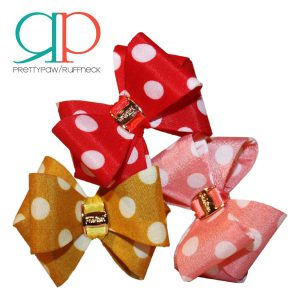 pretty paw girlie collar bows